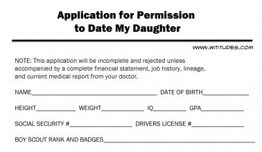 dad daughter dating application This principle doesn't apply to just movies the guys our daughters date/court/ hang-out with wield a tremendous influence so, how much do you really know.