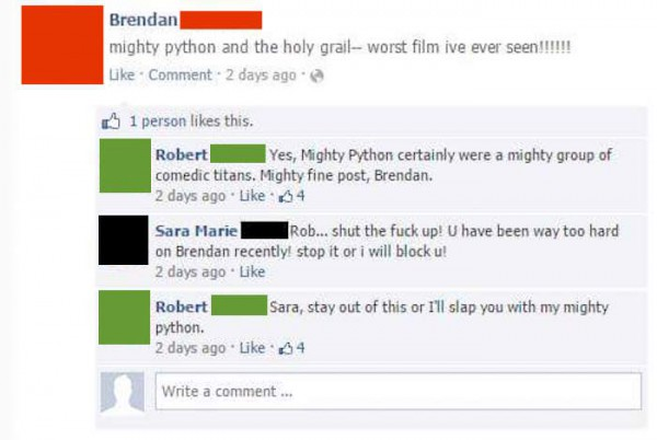 brendan-robert-facebook-troll-mighty-python-comments
