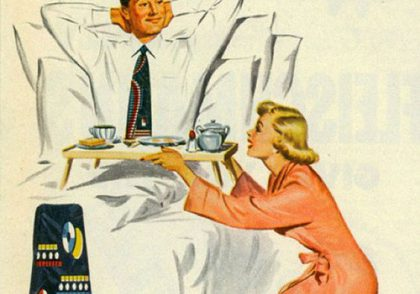 Show her it's a man's world van heusen ties sexist vintage ad