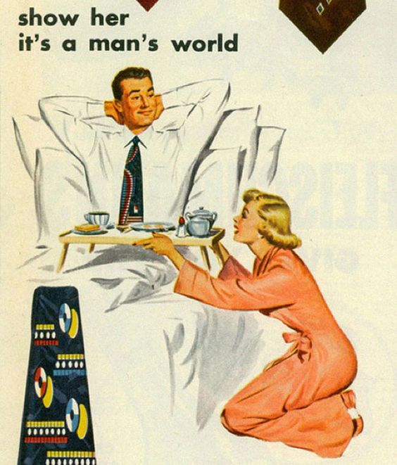 Show Her Its A Mans World Van Heusen Ties Sexist Vintage Ad