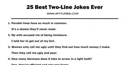 Line jokes 1 Clean One