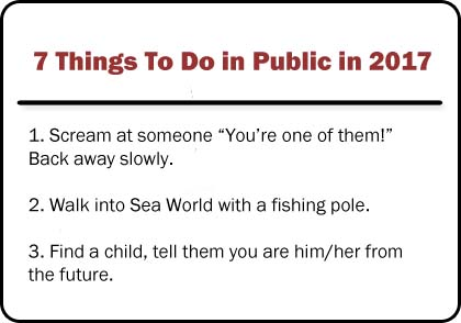 7 things to do in public in 2017 preview