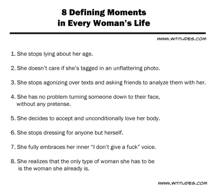 8 Defining Moments in Every Woman's Life