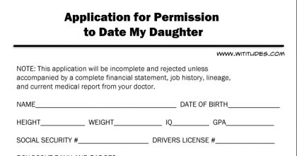 Form For Gay Dating My Daughter