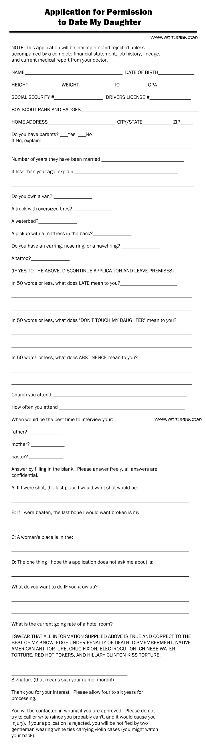 Application for dating my daughter in Brisbane