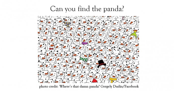 can-you-find-panda-out-of-snowmen