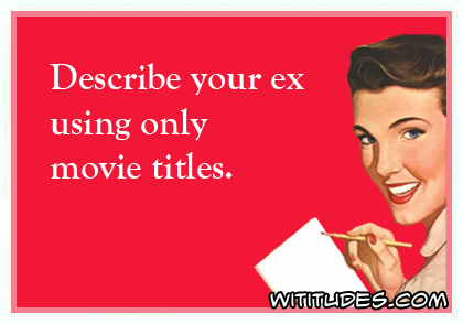 Movie titles describing ex