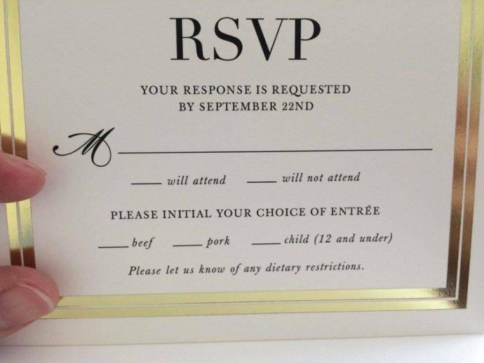 Wedding RSVP Card Fail Going Viral Wititudes