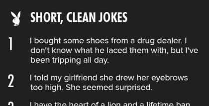 <b>Short clean jokes</b> from Playboy - Wititudes